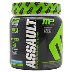 Want this:  Muscle Pharm Assault Pre Workout System