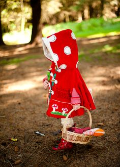 Toadstool inspired cape with multi pockets to stash things in.