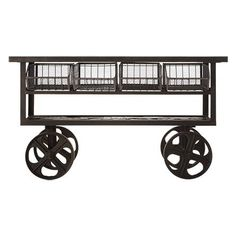 Storage Furniture - Crafted from reclaimed wood and a seriously strong cast iron base, this is an instant classic of industrial style. Each table is one of a kind and .