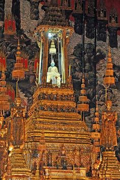 Emerald Buddha, Thailand. This Buddha is in the Grand Palace in Bangkok.