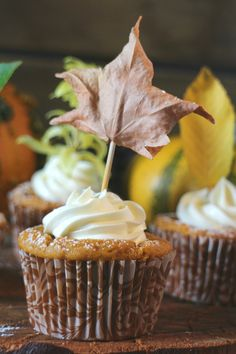Cook the cake: Muffins de calabaza con crema de queso