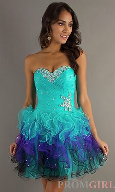 Strapless Short Party Dress by Mori Lee at PromGirl.com