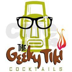 """""""Geeky Tiki"""" too funny! Vintage Tiki, Vintage Hawaiian, Tiki Art, Tiki Tiki, Bamboo Bar, Tiki Totem, Tiki Lounge, Jungle Room, Drink Signs"""