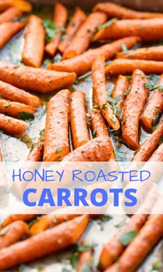 recipe for Honey Roasted Carrots is an easy and delicious way to enjoy carrots. It takes just minutes to get this easy vegetable side dish into the oven. Carrots In Oven, Honey Roasted Carrots, Eating Carrots, Carrots Side Dish, Cooked Carrots, Carrots Healthy, Honey Glazed Carrots, Easy Vegetable Side Dishes, Gourmet