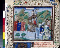 Unknown (15th century)-'Tower of Babel (construction)'-illumination    Paris-BNF (Jean de Courcy; Le Bouquechardise fr 63, fol. 2v)
