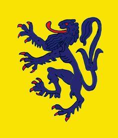 Blue Percy Lion of Louvain (Leuven)
