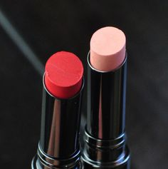 Review of Osmosis Colour Longwear Lipstick  in Sassy and First Kiss