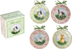 """ICMPHT 4.5"""" x 4.5"""" x .5"""" Hop To It Mini Plates                                                         easter"""