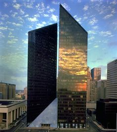 Pennzoil Place, Houston, Texas -- designed by Philip Johnson