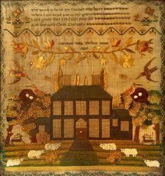A Victorian needlework sampler… - The Owston Collection - Day 1 - Bonhams - Antiques Reporter