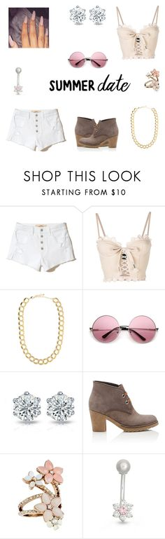 """""""Summer Date"""" by deedee06 on Polyvore featuring Hollister Co., Puma, BaubleBar, Barneys New York, Accessorize, Gioelli, sunset and summerdatenight"""