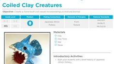 The Art of Ed - Coiled Clay Creatures: Free Lesson Plan Download