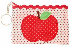 Gifts for Girls : Sweet Apple Coin Purse xo Gifts For Girls, Pot Holders, Coins, Coin Purse, Apple, Purses, Sweet, Inspiration, Apple Fruit