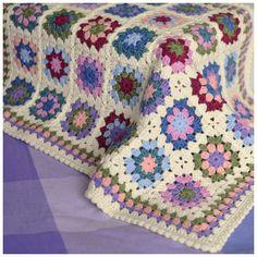 I like the granny border. Summer garden crochet blanket. Attic24 pattern.