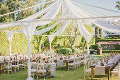backyard wedding receptions - photo by Brian Evans Photography http://ruffledblog.com/free-spirited-palm-springs-wedding