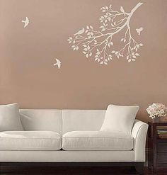 Get The Cool Look Of Wall Decals By Using Wall Stencils! Reusable Large  Stencils For Wall Painting. Trendy Wall Decor For Less By Cutting Edge  Stencils. Part 40