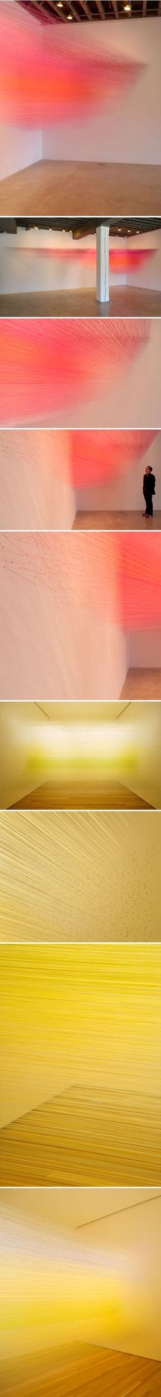 anne lindberg - thread installations - ELECTRICITY - Luminous Threads