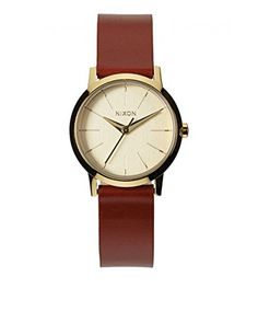 Now available Nixon Women's Kenzi Stainless Steel Watch with Leather Band