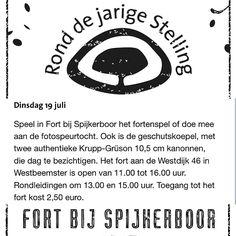Morgen opnieuw een zonnige dag, ideaal voor een verkoelend bezoek aan een fort #RonddejarigeStelling #FortbijSpijkerboor #StellingvanAmsterdam #Stampions