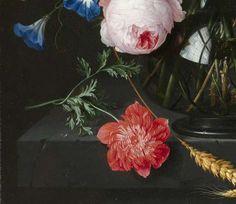 Martwa natura z kwiatami w szklanym wazonie, Jan Davidsz. de Heem, 1650 - 1683 - Flora-Dzieł Ingrid van Meggelen - Wszystkie Rijksstudio za - Rijksstudio - Rijksmuseum