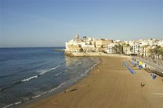 Sitges, the home of 17 different beaches, 20 miles south of barcelona