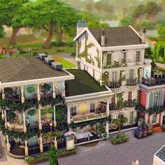 Sims 4 House Plans, Sims 4 House Building, Play Sims 4, Sims 4 House Design, Casas The Sims 4, Sims Four, Unusual Buildings, Sims 4 Build, Sims 4 Houses