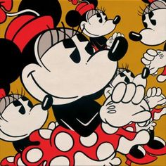 "Disney ""MANY MINNIES (LOW)"" Size: 16 x 16 