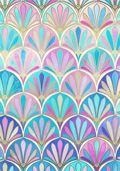 Glamorous Twenties Art Deco Pastel Pattern by micklyn