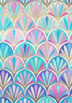 Glamorous Twenties Art Deco Pastel Pattern by micklyn