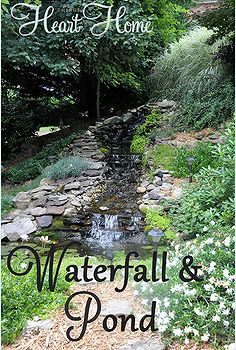 diy backyard waterfall pond, diy, outdoor living, ponds water features, I wanted to share my little sister s Backyard Waterfall Pond