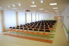 Dům pro seniory - Ostrava Conference Room, Basketball Court, Table, Furniture, Home Decor, Decoration Home, Room Decor, Tables, Home Furnishings