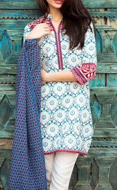 Buy White/Blue Printed Khaddar Salwar Kameez by Khaadi 2015 Call: (702) 751-3523 Email: Info@PakRobe.com www.pakrobe.com #WINTER #SALWAR #KAMEEZ https://www.pakrobe.com/Women/Clothing/Buy-Winter-Salwar-Kameez-Online