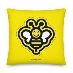 Kissen • fleißige Biene – gelb • Design Peace Dove, Pillow Design, Bees, Yellow, Kunst