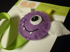 Halloween Purple People Eater Pacifier Clip by TwiDDLeBugTreAsuRes, $8.25