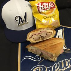 A Cuban Sandwich is the special when the Marlins come to town! #Brewers