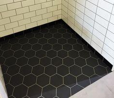 WINC OCTAGON BLACK 15X15 - 44PC - Floor Tiles - Tiles - Our Products