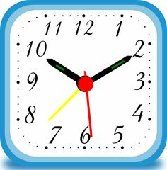 Free online lesson on telling the time, using the twelve hour clock