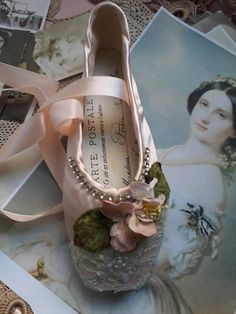 Hey, I found this really awesome Etsy listing at https://www.etsy.com/listing/535423417/embellished-ballet-pointe-shoe-fantasy