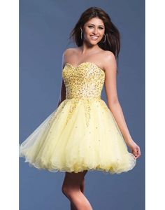 Tulle Sweatheart Beading Crystal A-line Cocktail Dress