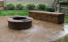Cambridge offers round and square fire pit kits. Click the photo to find a fire pit that's perfect for your backyard patio.