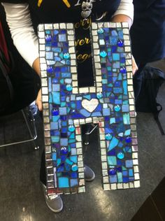 mosaic letters Hobbit Hill going to make something like this for my dorm but of course with an S :)
