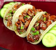 Teriyaki Chicken Tacos