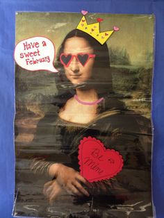 Fun early finishers activity - make new outfits for Mona Lisa based on the month