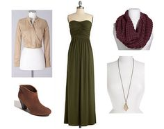 I know what to do with my green maxi dress for fall now...