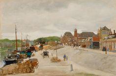Floris Arntzenius (1864-1925) - Bedrijvigheid aan de Haringkade te Scheveningen