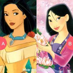 Pochahauntus or mulan??? Click here to vote @ http://getwishboneapp.com/share/14137835