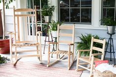 #rockingchairsforthefamily - www.dixieseating.com Outdoor Chairs, Outdoor Furniture, Outdoor Decor, Home Decor, Homemade Home Decor, Interior Design, Home Interiors, Decoration Home, Garden Chairs