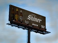 shiner beer ad campaign for white wing black lager and bock