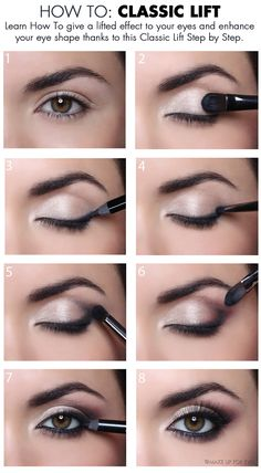 Come effettuare il corretto #makeup per sollevare lo sguardo. How to give a lifted effect to our eye shape. #beauty
