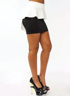 Peplum skirt fucking sexy